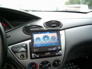 Tuning Auto mit Autoradio